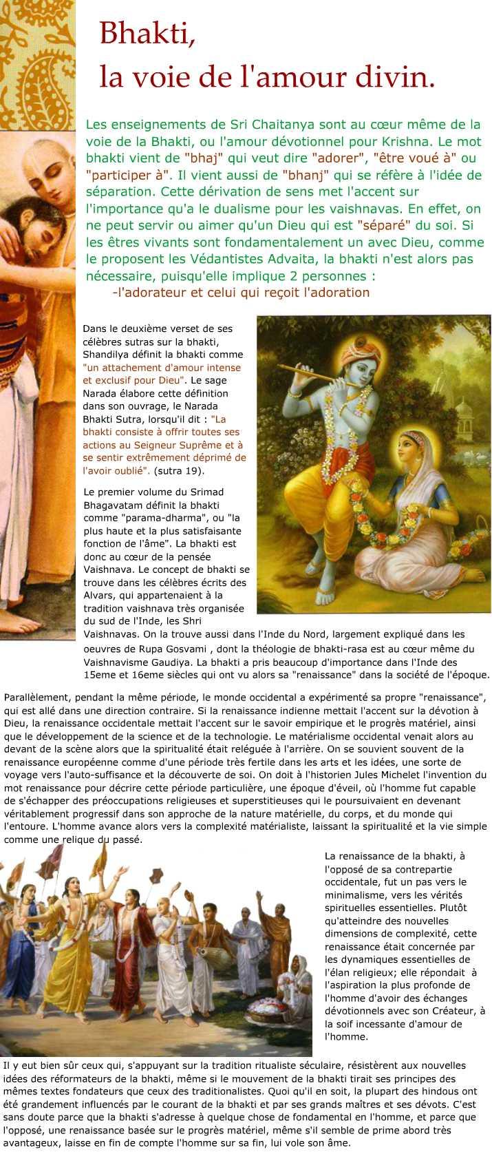 Bhakti, la Voie de l'Amour Divin