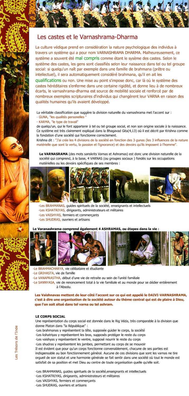 Les castes et le Varnasrama dharma